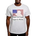 Support Lt. Watada! Ash Grey T-Shirt