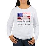 Support Lt. Watada! Women's Long Sleeve T-Shirt