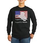 Support Lt. Watada! Long Sleeve Dark T-Shirt