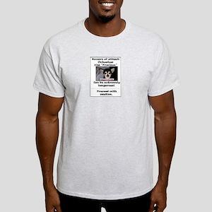 Beware of attack Chihuahua Ash Grey T-Shirt