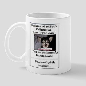 Beware of attack Chihuahua Mug
