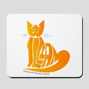William orange cat Mousepad