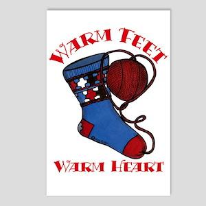 """""""Warm Feet/Warm Heart"""" Postcards (Package of 8)"""
