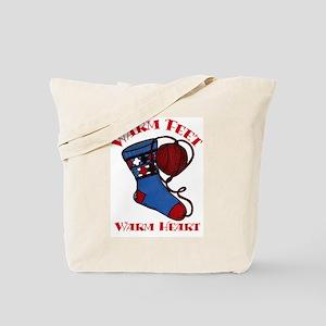 """Warm Feet/Warm Heart"" Tote Bag"