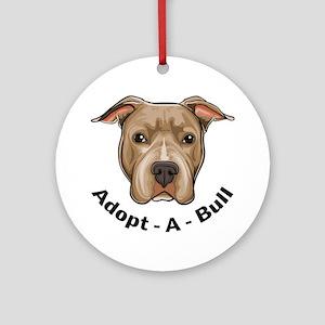 Adopt-A-Bull 1 Ornament (Round)