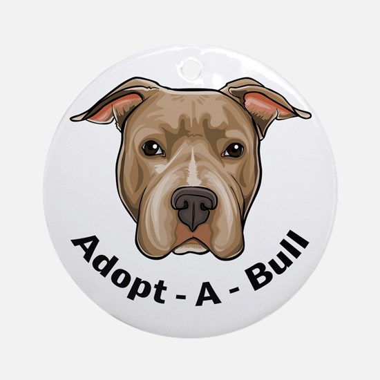 Adopt-A-Bull 1 Ornament (Round)