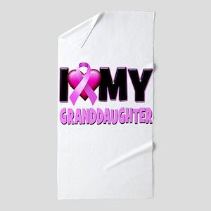 I Love My Granddaughter Beach Towel