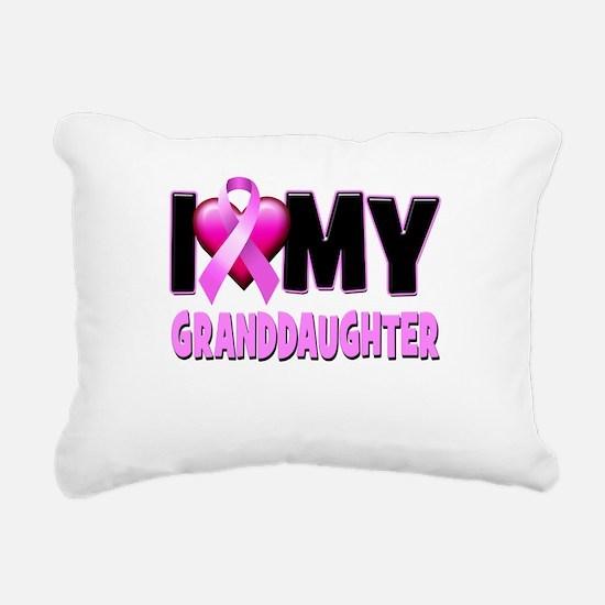 I Love My Granddaughter Rectangular Canvas Pillow