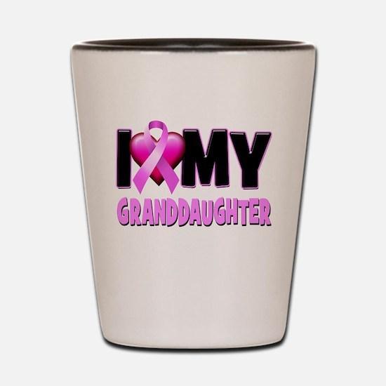 I Love My Granddaughter Shot Glass
