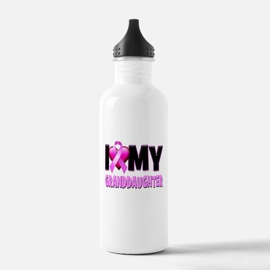 I Love My Granddaughter Water Bottle
