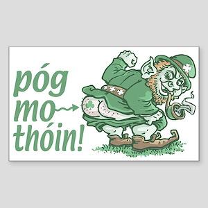 Pog Mo Thoin Irish Rectangle Sticker