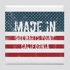 Made in Stewarts Point, California Tile Coaster