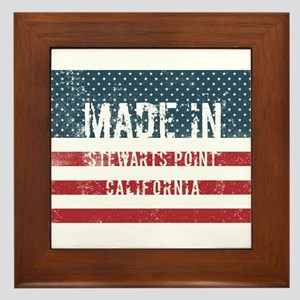 Made in Stewarts Point, California Framed Tile