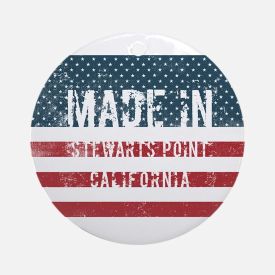 Made in Stewarts Point, California Round Ornament