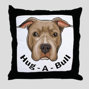 Hug-A-Bull 1 Throw Pillow