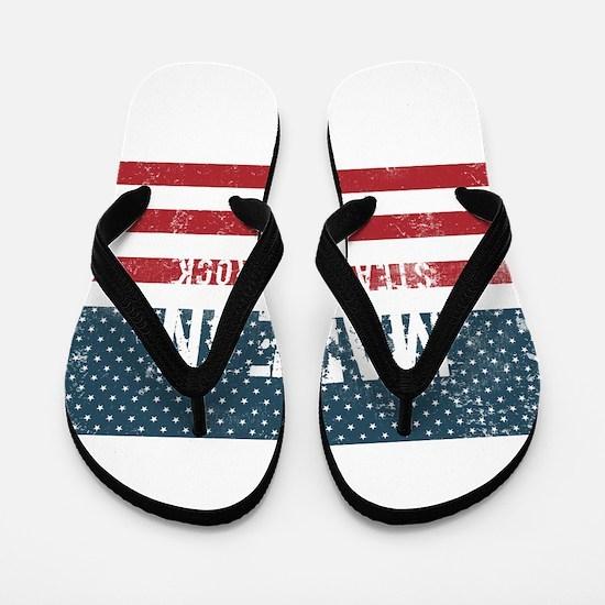 Made in Steamboat Rock, Iowa Flip Flops