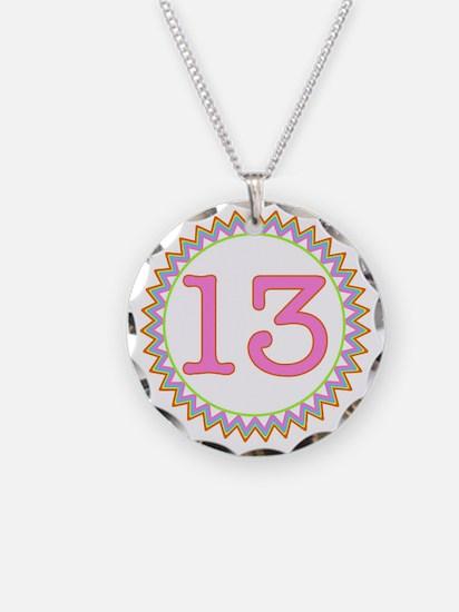 Number 13 Sherbert Zig Zag Necklace