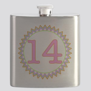 Number 14 Sherbert Zig Zag Flask