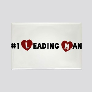 No. 1 Leading Man Rectangle Magnet