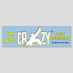 Crazy Hockey Goalie Bumper Sticker