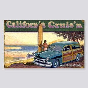 CALIFORNIA CRUIS'N Rectangle Sticker