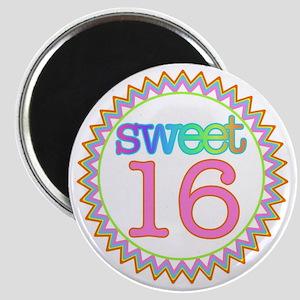 Number Sweet 16 Sherbert Zig Zag Magnet