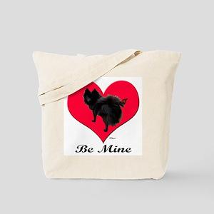 A Black Pomeranian Valentine Tote Bag