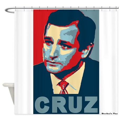 Ted Cruz, Cruz, old colors Shower Curtain