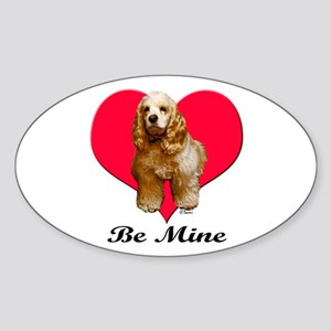 A Cocker Valentine Oval Sticker