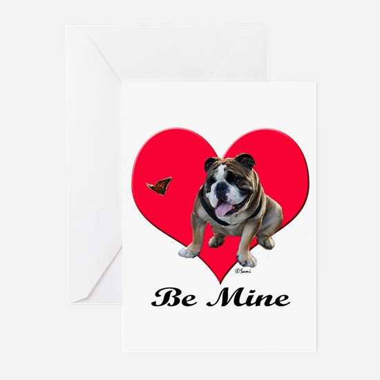 An English Bulldog Valentine Greeting Cards (Packa