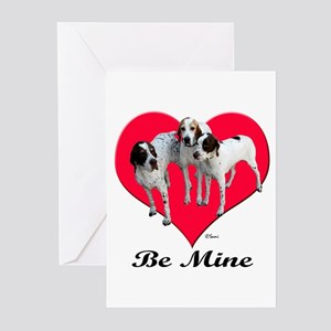 An English Pointer Valentine Greeting Cards (Packa