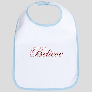 Red Believe Bib