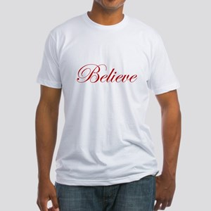 Red Believe Fitted T-Shirt