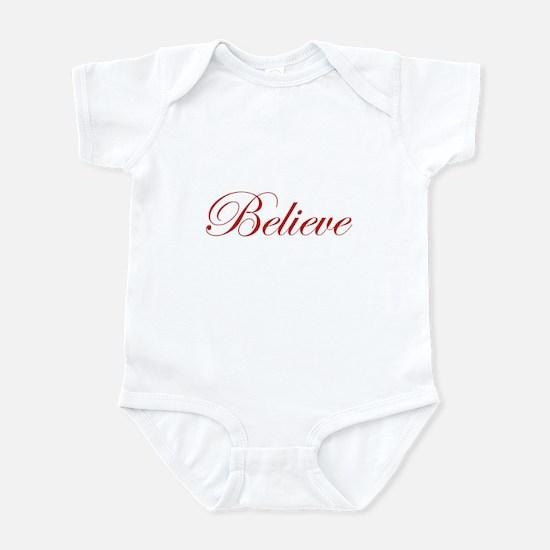 Red Believe Infant Bodysuit