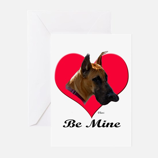 It's A Great Dane Valentine! Greeting Cards (Packa