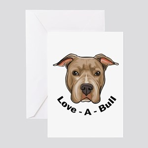 Love-A-Bull 1 Greeting Cards (Pk of 10)