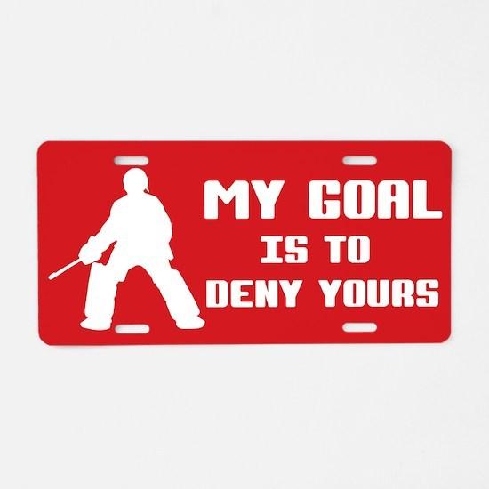My Goal, Field Hockey Goalie Aluminum License Plat