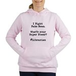 I Fight Fake News #librarian Hooded Sweatshirt
