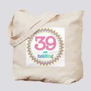 Number 39 and Holding Sherbert Zig Zag Tote Bag