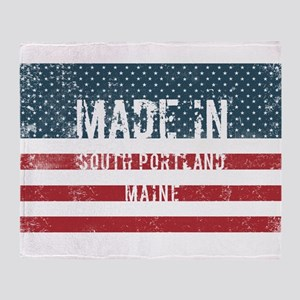 Made in South Portland, Maine Throw Blanket