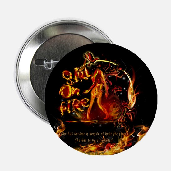 """Girl On Fire 2.25"""" Button"""
