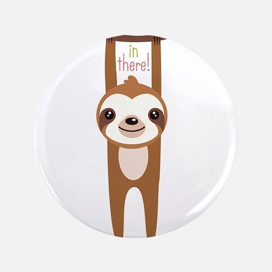 """Cute Sloth 3.5"""" Button"""