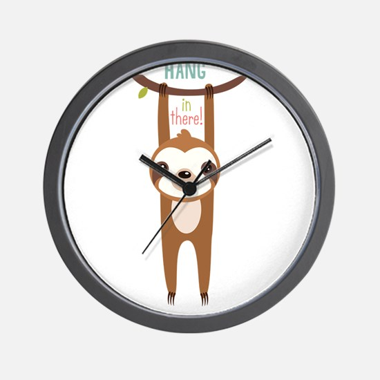 Cute Sloth Wall Clock