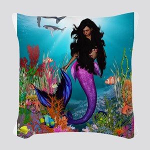 Best Seller Merrow Mermaid Woven Throw Pillow