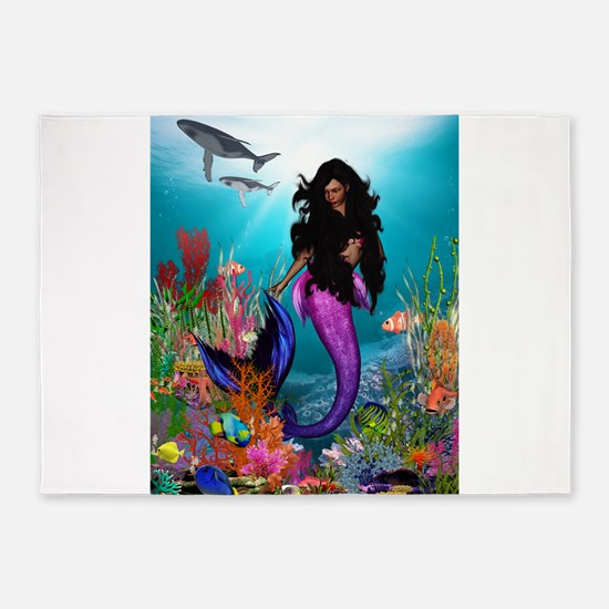 Best Seller Merrow Mermaid 5'x7'Area Rug