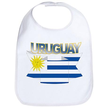 Flag Uruguay ribbon Bib