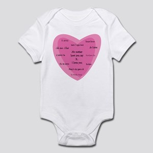 No Matter How You Say It....I Love You Infant Body
