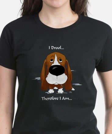 Basset - I Drool Women's Dark T-Shirt
