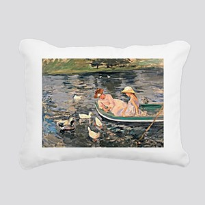 Mary Cassatt - Summertim Rectangular Canvas Pillow