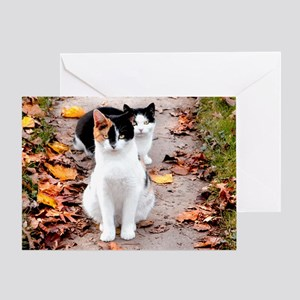Autumn Girls Greeting Card